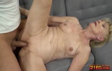 Granny loves a big hard cock in her mature pussy