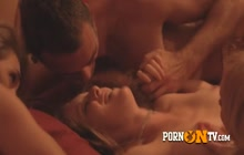 Swinger couples are fucking and making loud sex noises in this hot room.