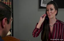 Brunette boss otk spanking her assistant