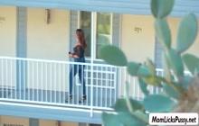 Kristen Scott licks her Stepmom Elexis Monroes wet pussy