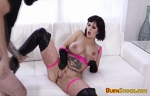 Slut with giant tits and big butt in hardcore porn