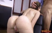 Beautiful pornstar Gisha Forza gets anal creampie