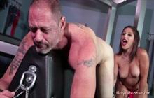 Stunning Abella Danger loves fucking a dude in bondage
